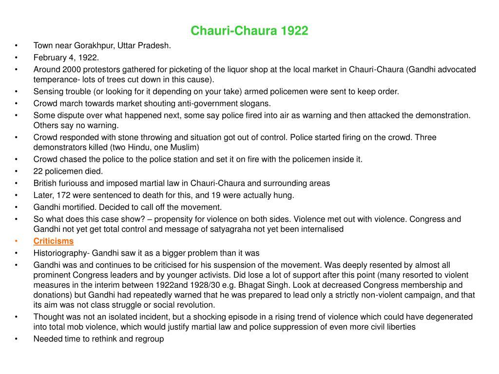 Chauri-Chaura 1922