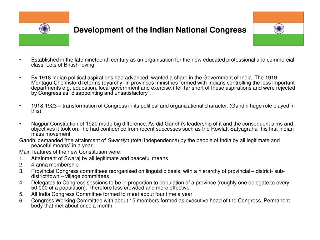Development of the Indian National Congress