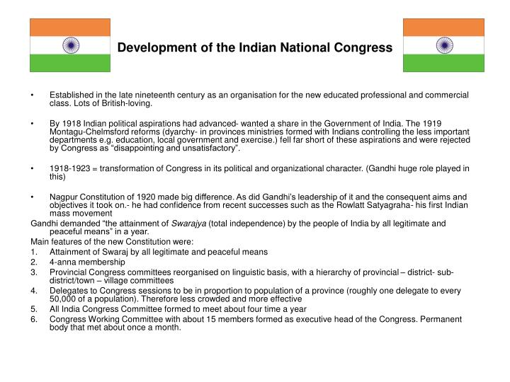 Development of the indian national congress l.jpg
