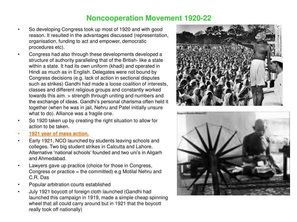 Noncooperation Movement 1920-22