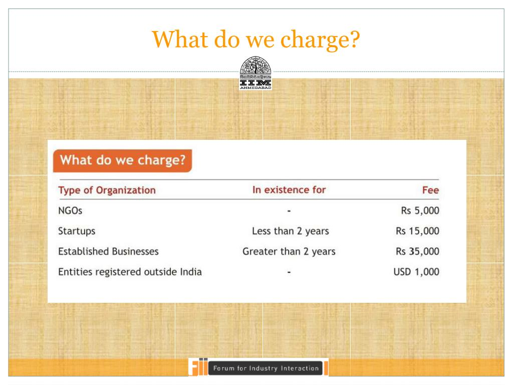 What do we charge?