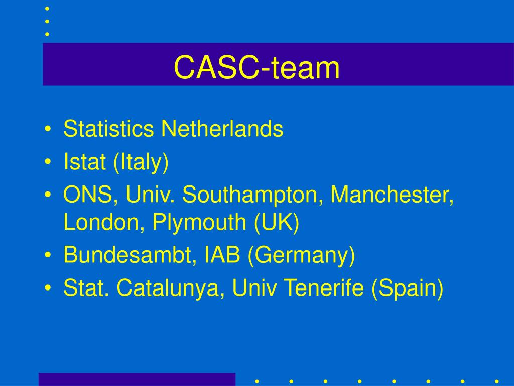 CASC-team