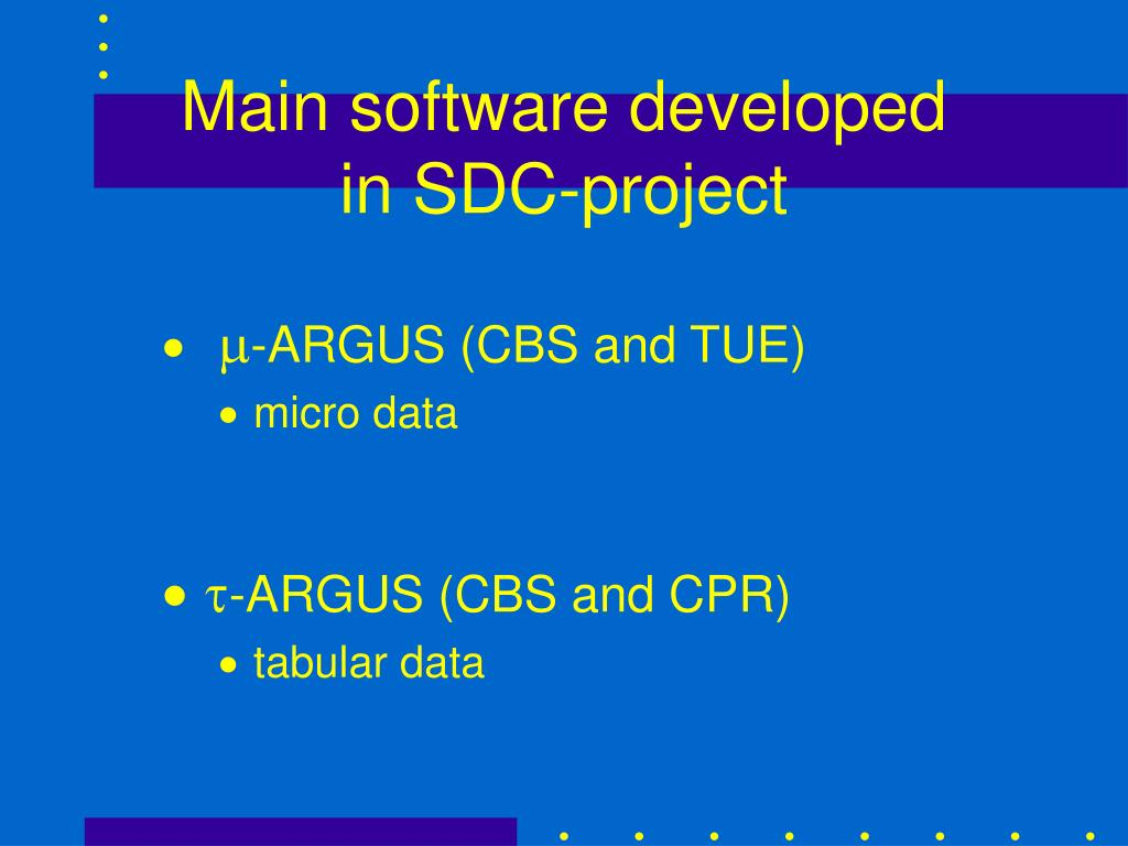 Main software developed