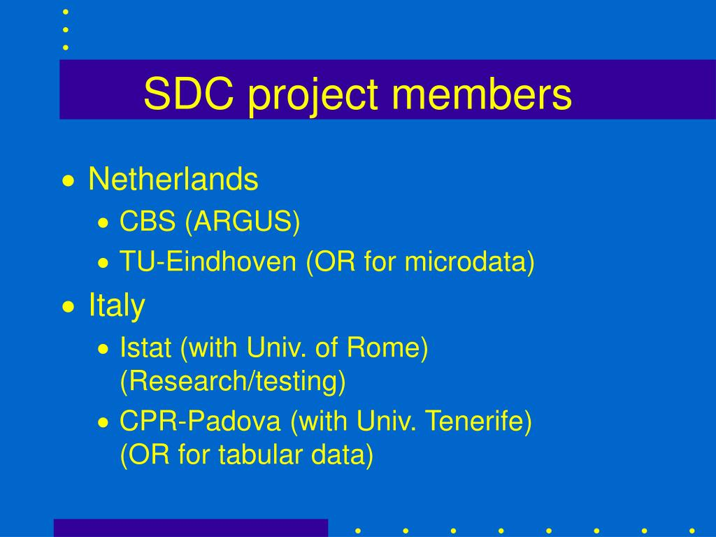 SDC project members