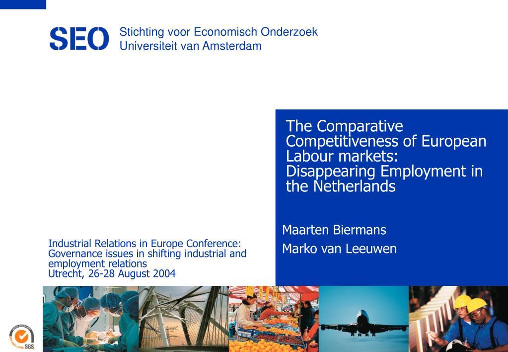 Stichting voor Economisch Onderzoek Universiteit van Amsterdam