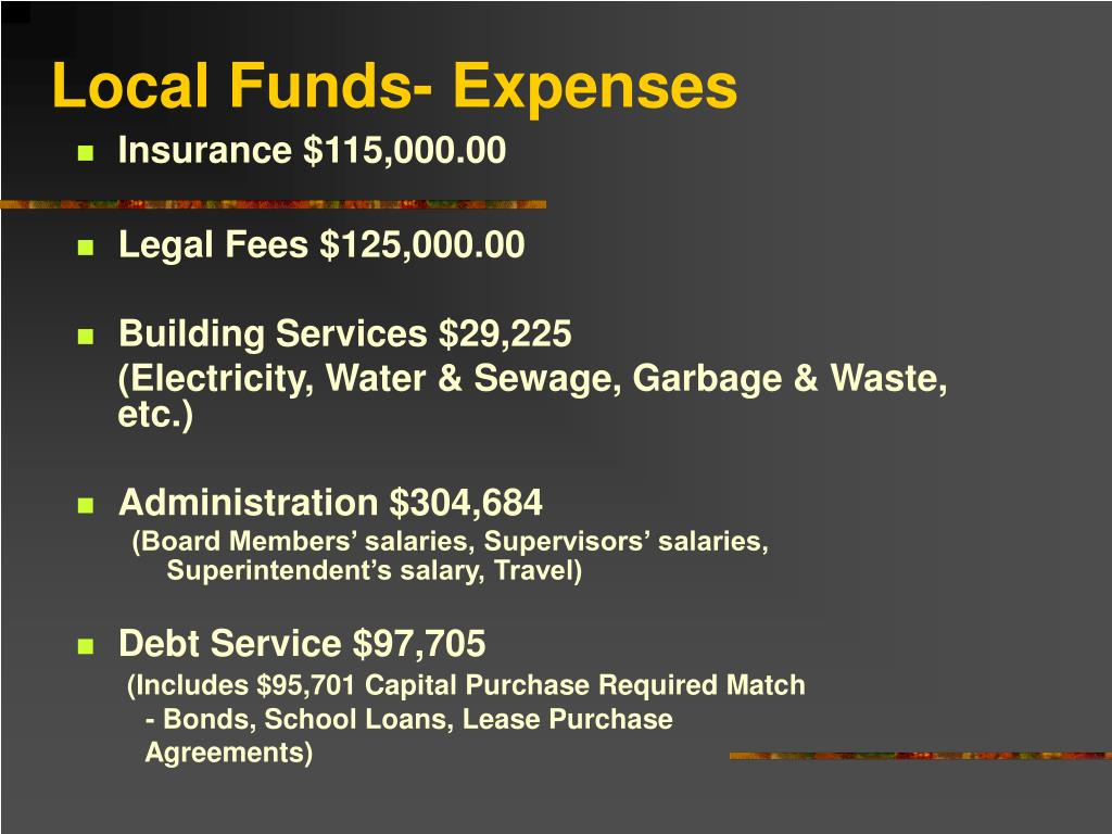 Local Funds- Expenses