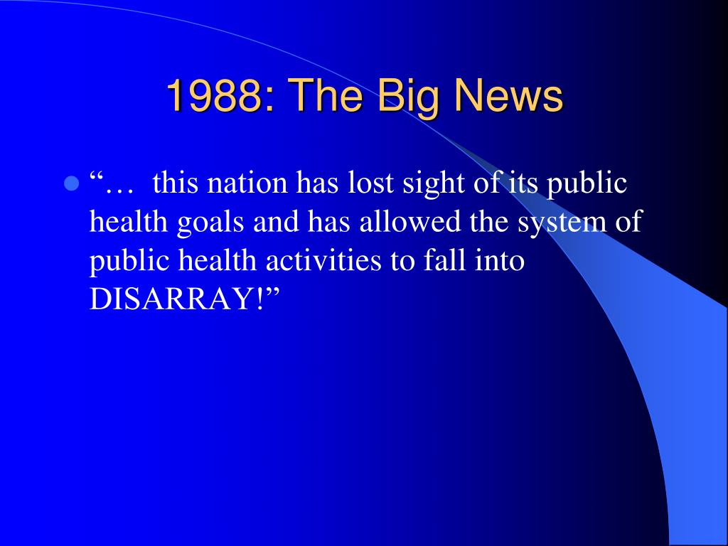 1988: The Big News