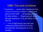 1988 the core functions19