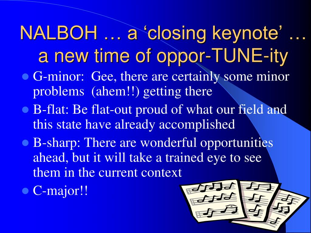 NALBOH … a 'closing keynote' … a new time of
