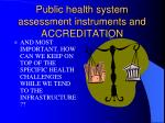 public health system assessment instruments and accreditation86