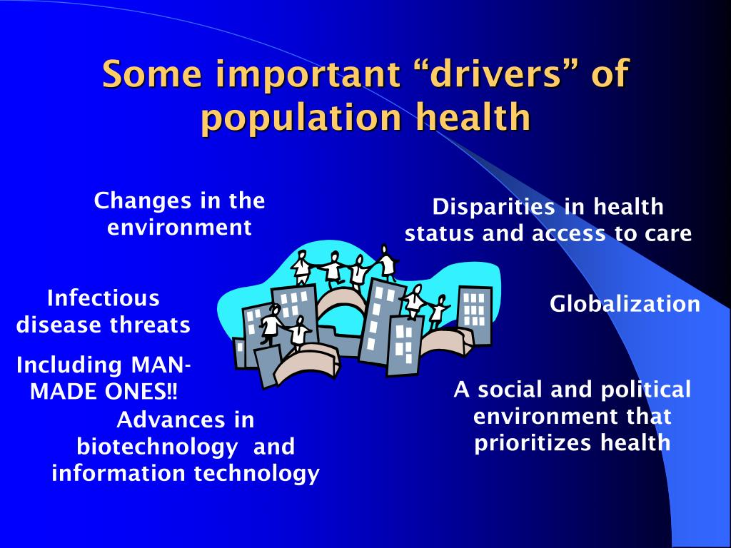 "Some important ""drivers"" of population health"