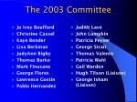 the 2003 committee