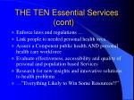 the ten essential services cont