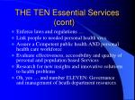 the ten essential services cont83