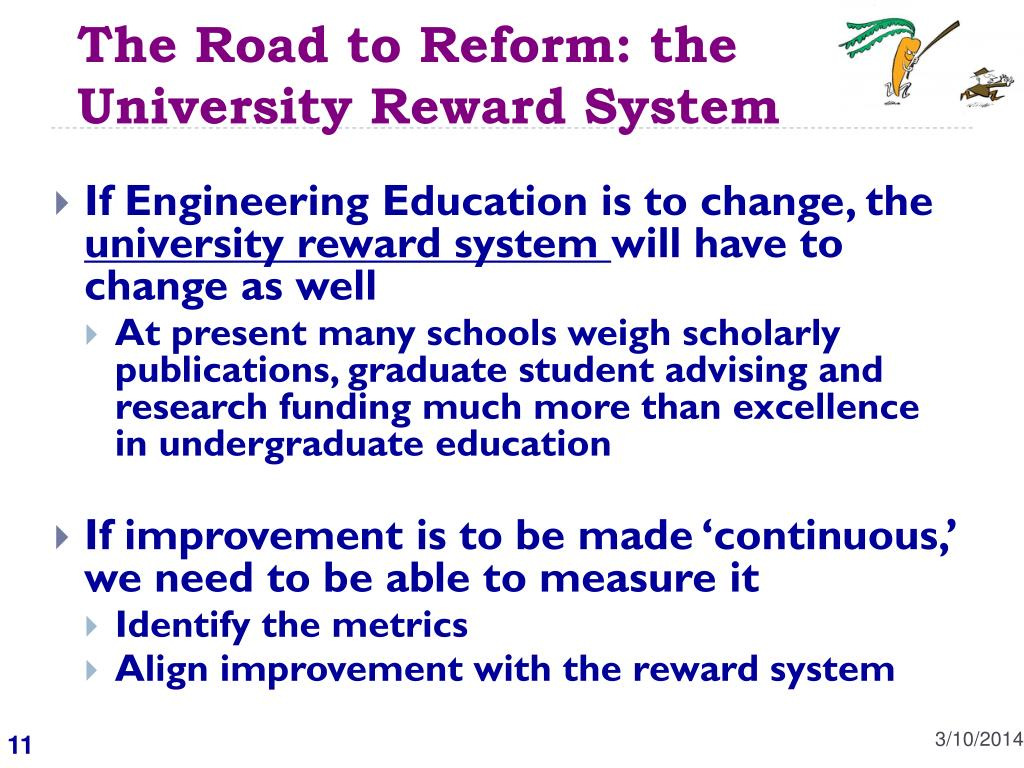 The Road to Reform: the University Reward System