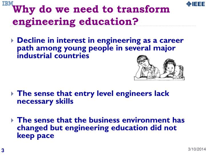 Why do we need to transform engineering education