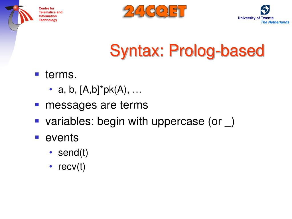 Syntax: Prolog-based
