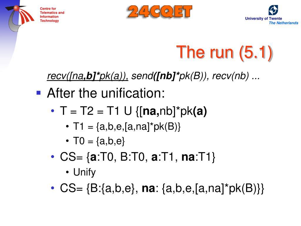 The run (5.1)