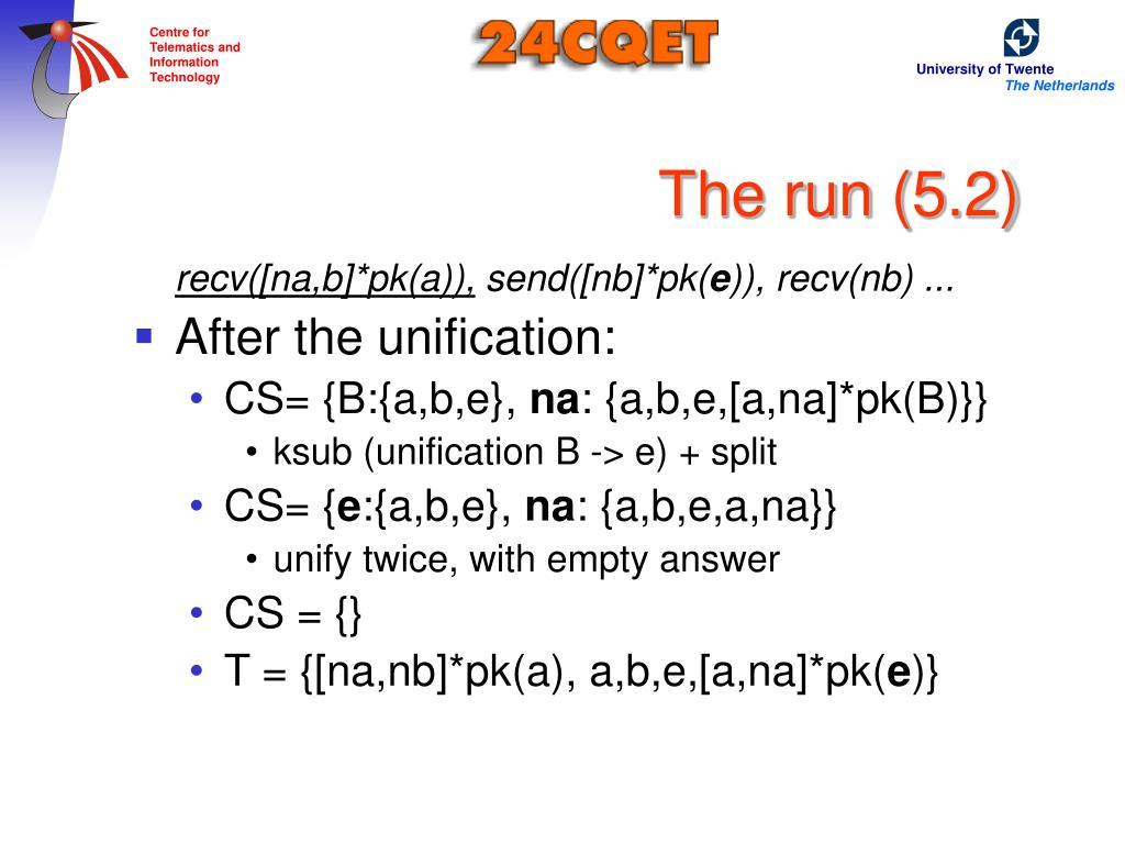 The run (5.2)