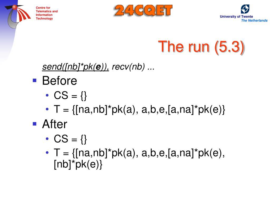 The run (5.3)