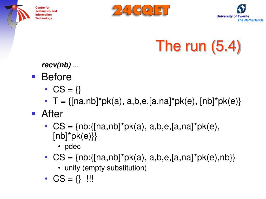 The run (5.4)