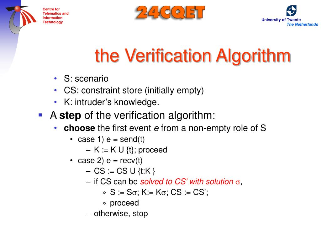 the Verification Algorithm
