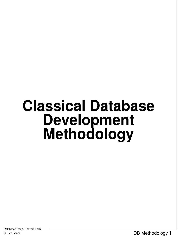 classical database development methodology