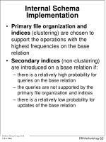 internal schema implementation