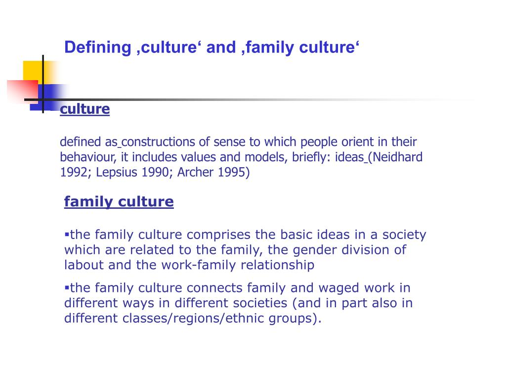 Defining 'culture' and 'family culture'