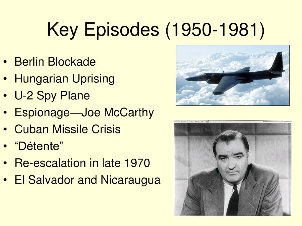 Key Episodes (1950-1981)