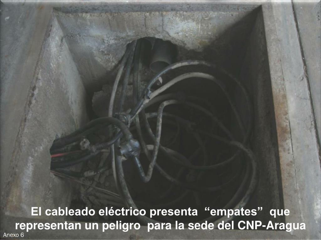 """El cableado eléctrico presenta  """"empates""""  que representan un peligro  para la sede del CNP-Aragua"""
