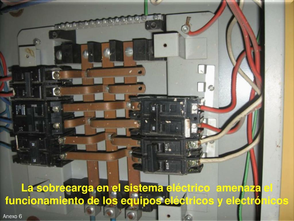 La sobrecarga en el sistema eléctrico  amenaza el funcionamiento de los equipos eléctricos y electrónicos