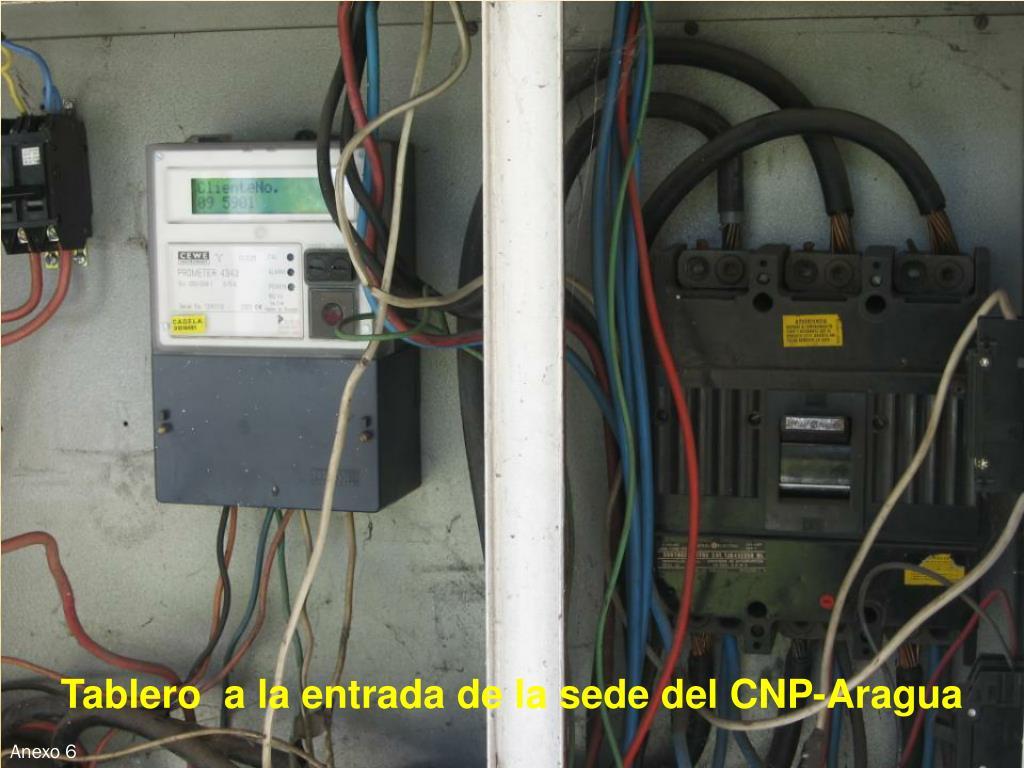 Tablero  a la entrada de la sede del CNP-Aragua