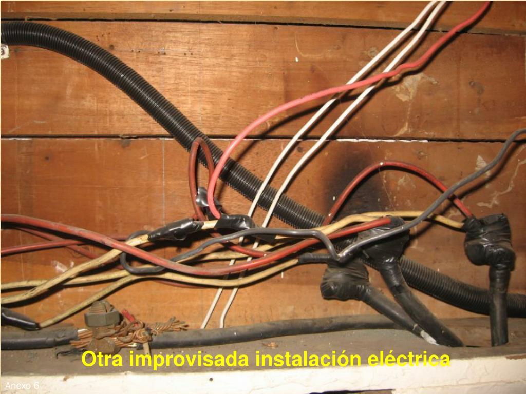 Otra improvisada instalación eléctrica