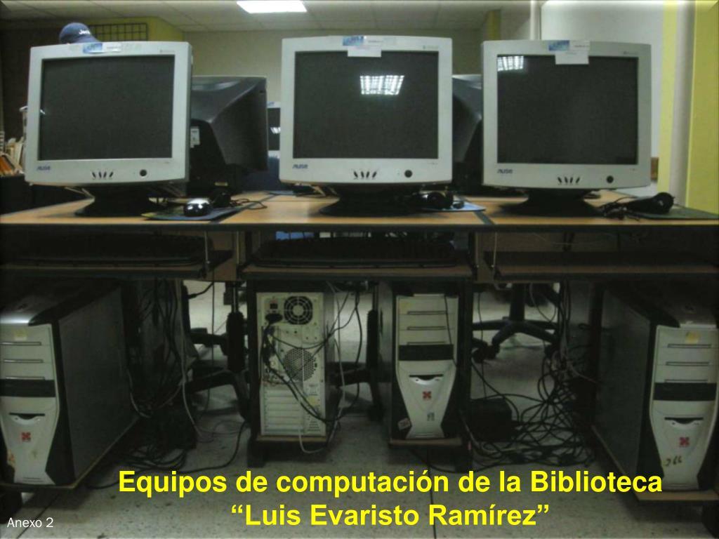 Equipos de computación de la Biblioteca