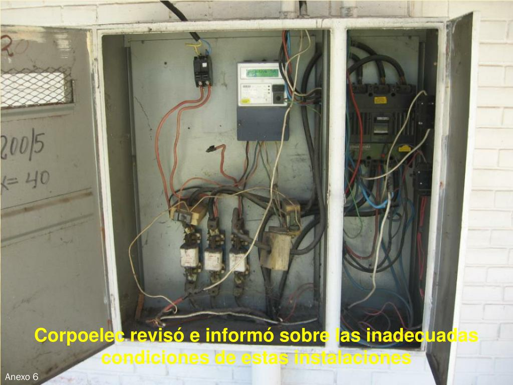 Corpoelec revisó e informó sobre las inadecuadas condiciones de estas instalaciones