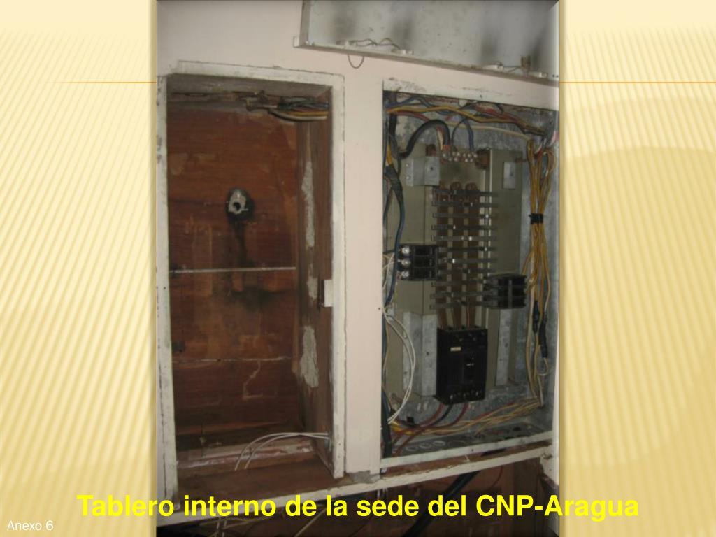 Tablero interno de la sede del CNP-Aragua