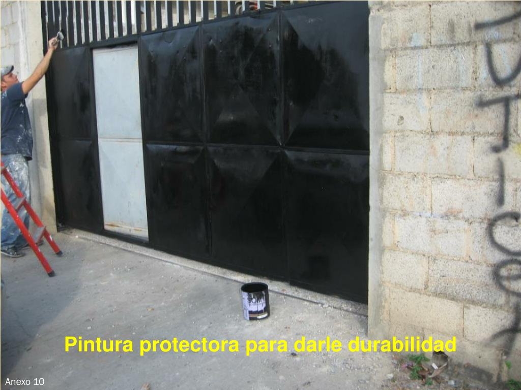 Pintura protectora para darle durabilidad