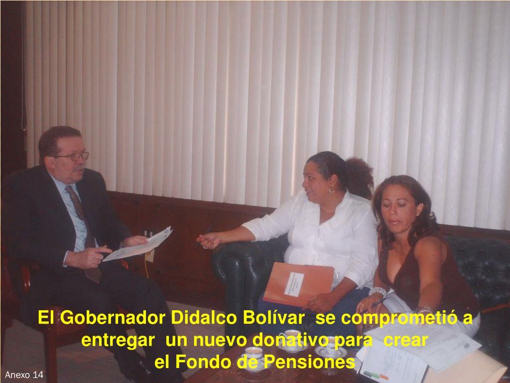 El Gobernador Didalco Bolívar  se comprometió a entregar  un nuevo donativo para  crear