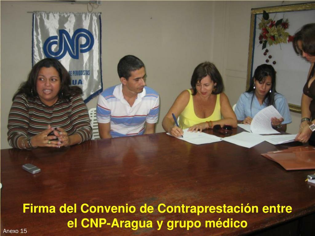 Firma del Convenio de Contraprestación entre
