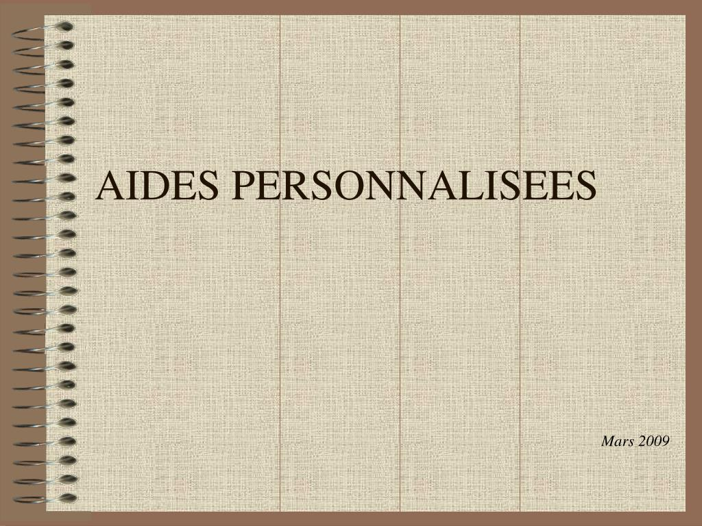 aides personnalisees