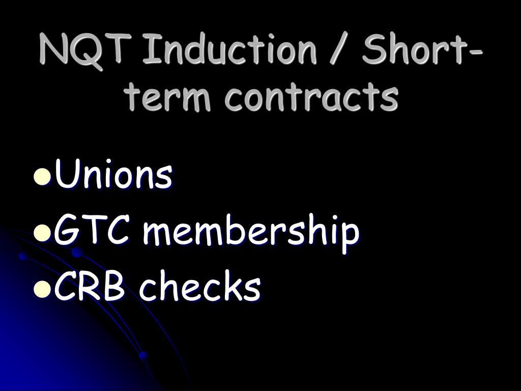 NQT Induction / Short-term contracts