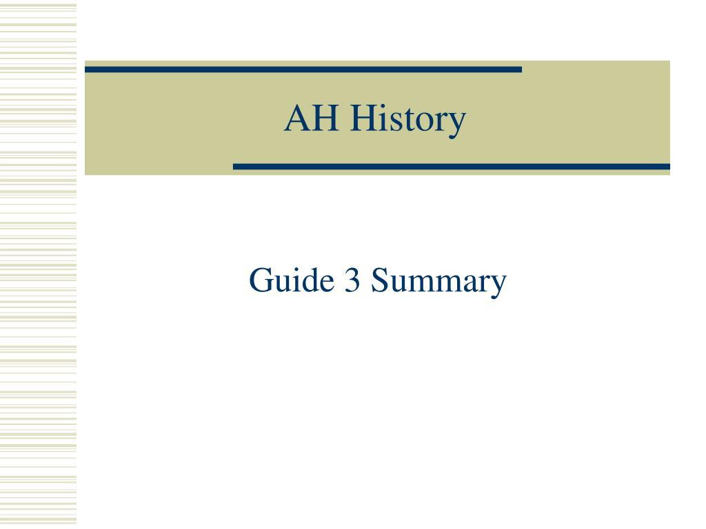 ah history