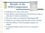 results of the 1850 compromise