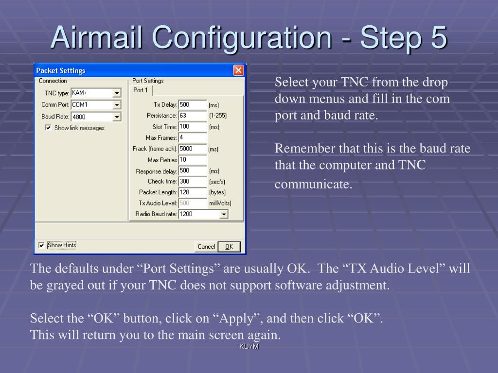 Airmail Configuration - Step 5
