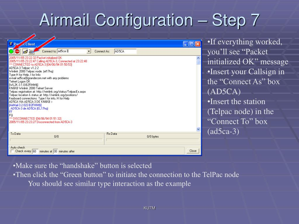 Airmail Configuration – Step 7