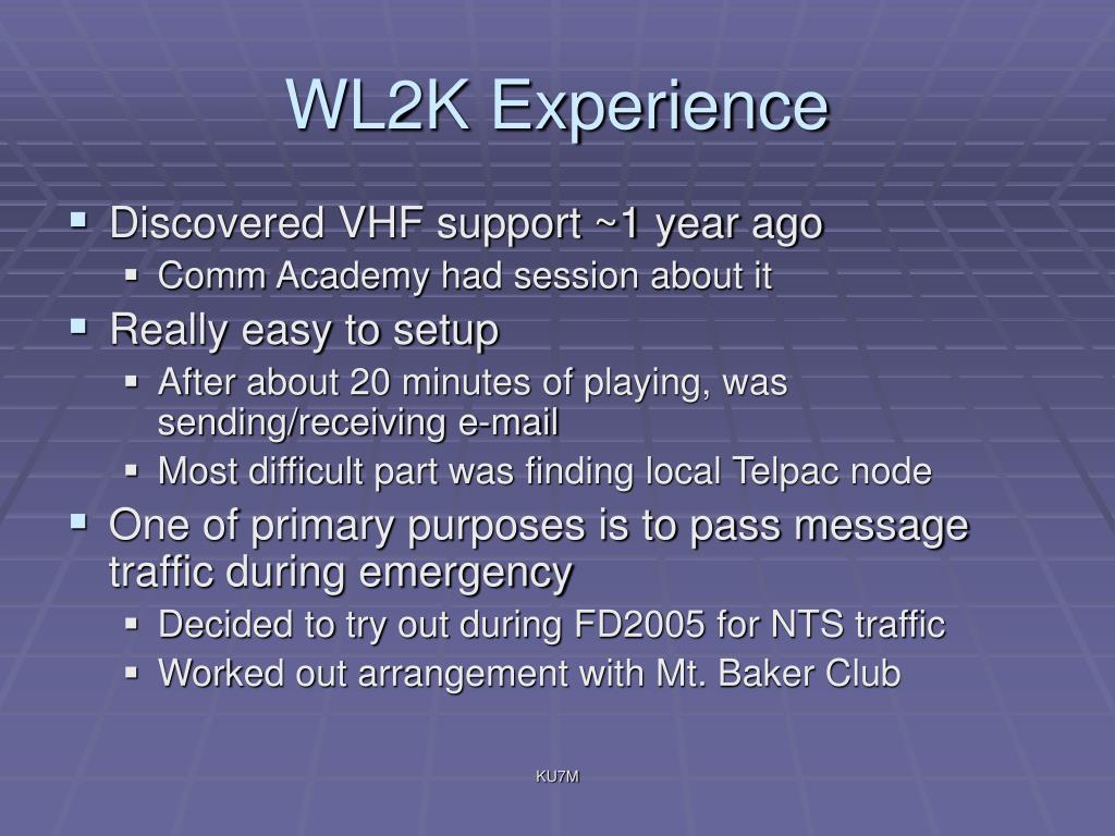 WL2K Experience