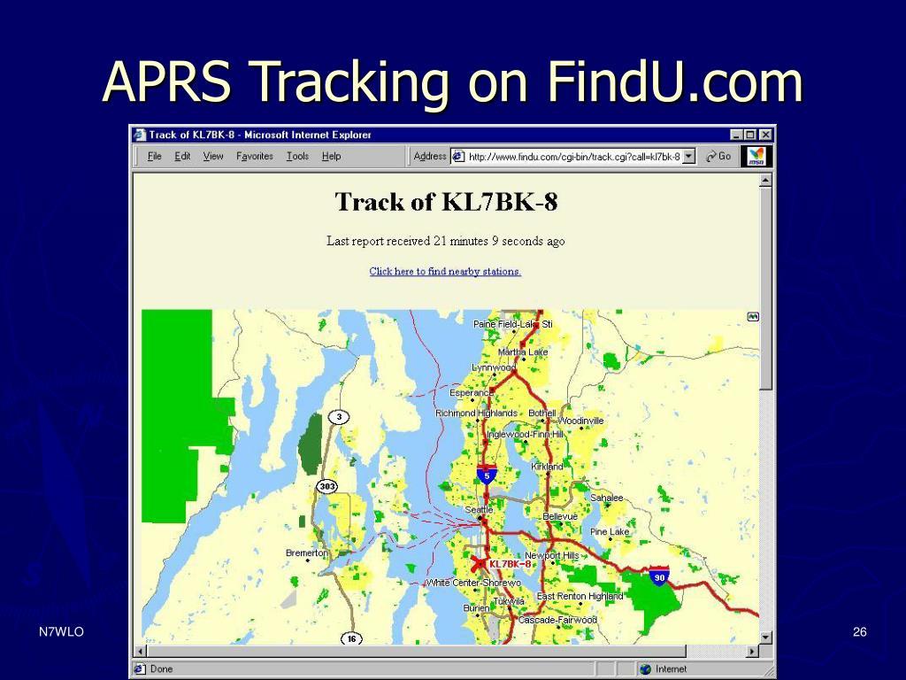 APRS Tracking on FindU.com
