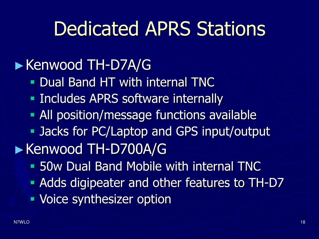 Dedicated APRS Stations