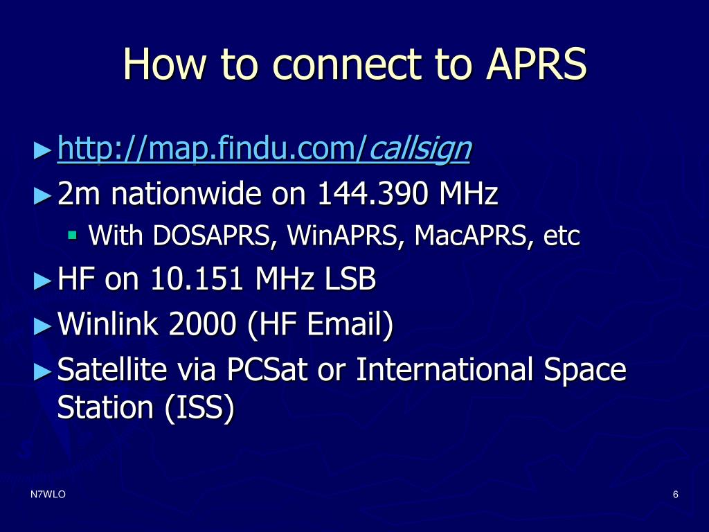 How to connect to APRS
